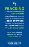 FRACK POSTER from RIVERKEEPER's WEBSITE