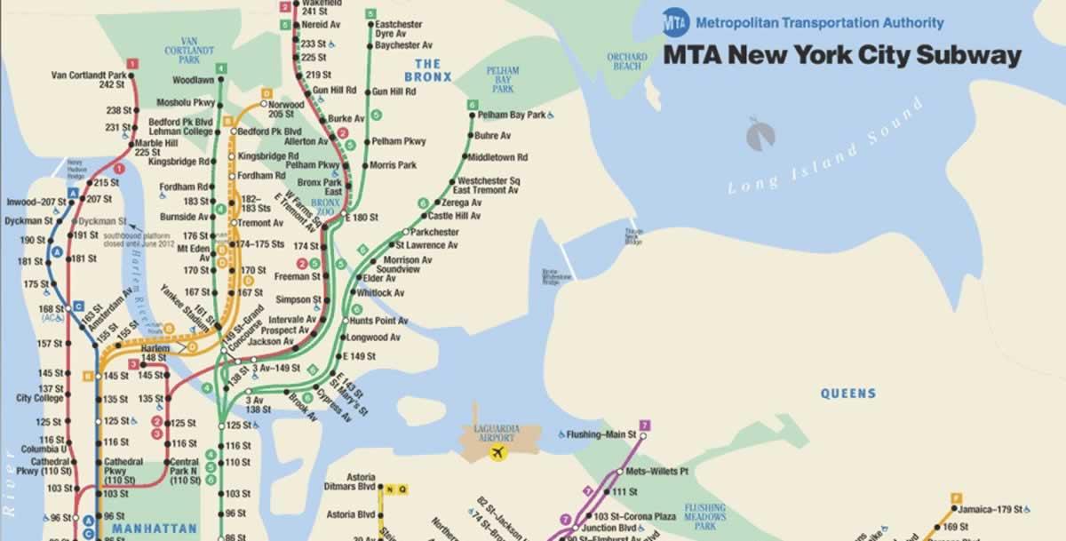 Long Island Subway Map